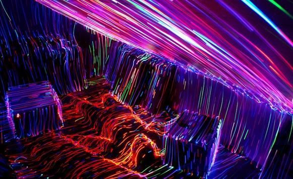 Impresionantes cuadros topográficos luminosos realizados con LEDs y software (por Manuel Cosío)