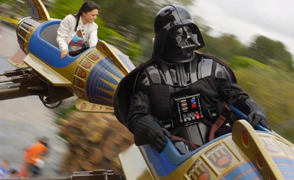 Darth Vader de paseo en Disney World