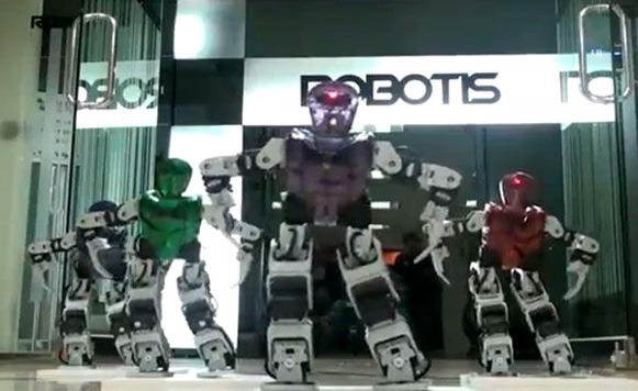 Robots que bailan el Gangnam Style