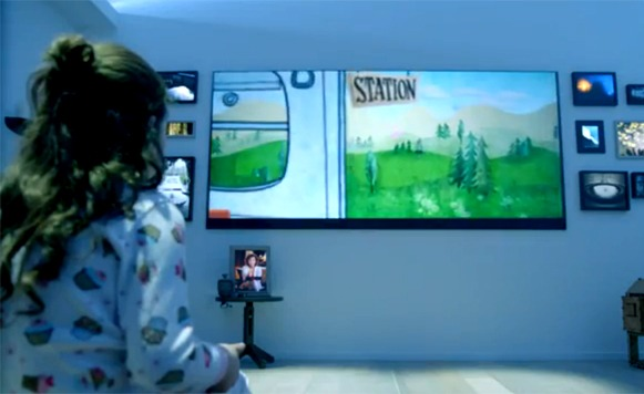 Microsoft se imagina cual es el futuro de las pantallas gigantes y los sensores (por Manuel Cosío)