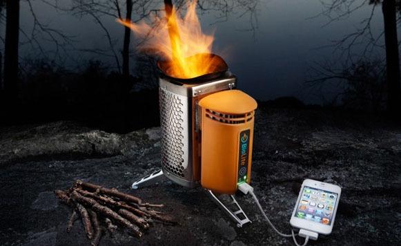 Biolite–Cocina que aprovecha la energía del fuego para cargar dispositivos (por Iohanna Küppers cortesía de Treska)