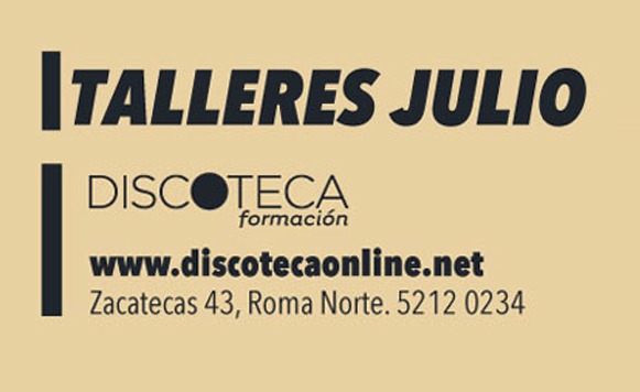 Talleres de julio en Discoteca