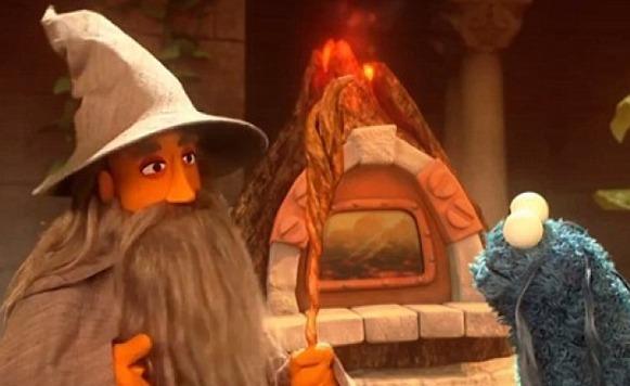 Parodia del Señor de los Anillos por Sesame Street