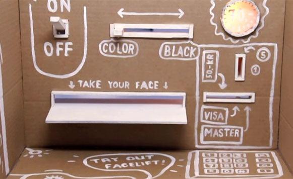 Face-O-Mat, tu retrato en tres minutos por una máquina de mentirita (por Pulpo Caivano)