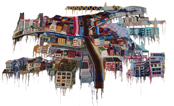 Jo Hamilton y sus coloridos cuadros en crochet (por Iohanna Küppers)